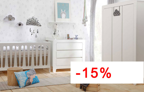 Pinio moon 4 meubles lit 140x70 commode 3 tiroirs for Chambre bebe complete evolutive