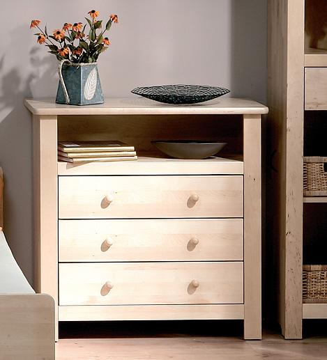 Atb nature 6 meubles lit commode armoire 3 portes for Armoire murale bureau