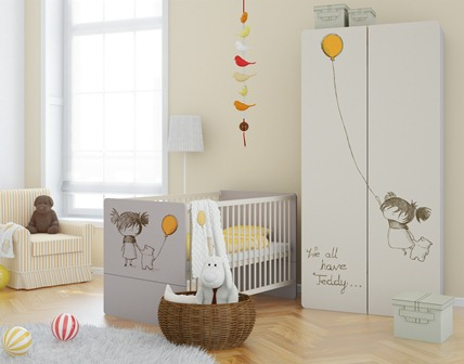 Baby vox 2pir fille 4 meubles lit commode armoire 2 - Chambre bebe fille complete ...