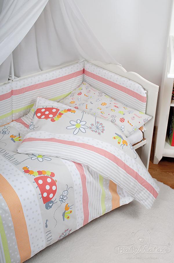 babymatex printemps rose 5 l ments ciel de lit tour de lit 120 housse de couette d. Black Bedroom Furniture Sets. Home Design Ideas