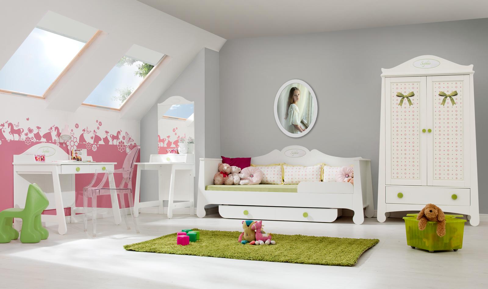 Pinio parole fille   3 meubles   lit 200x90, armoire, bureau ...