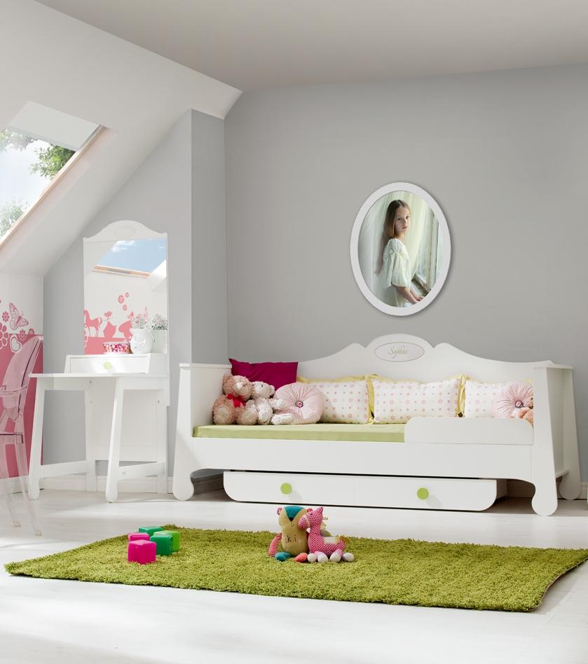 Pinio parole fille   4 meubles   lit 200x90, armoire, bibliothèque ...