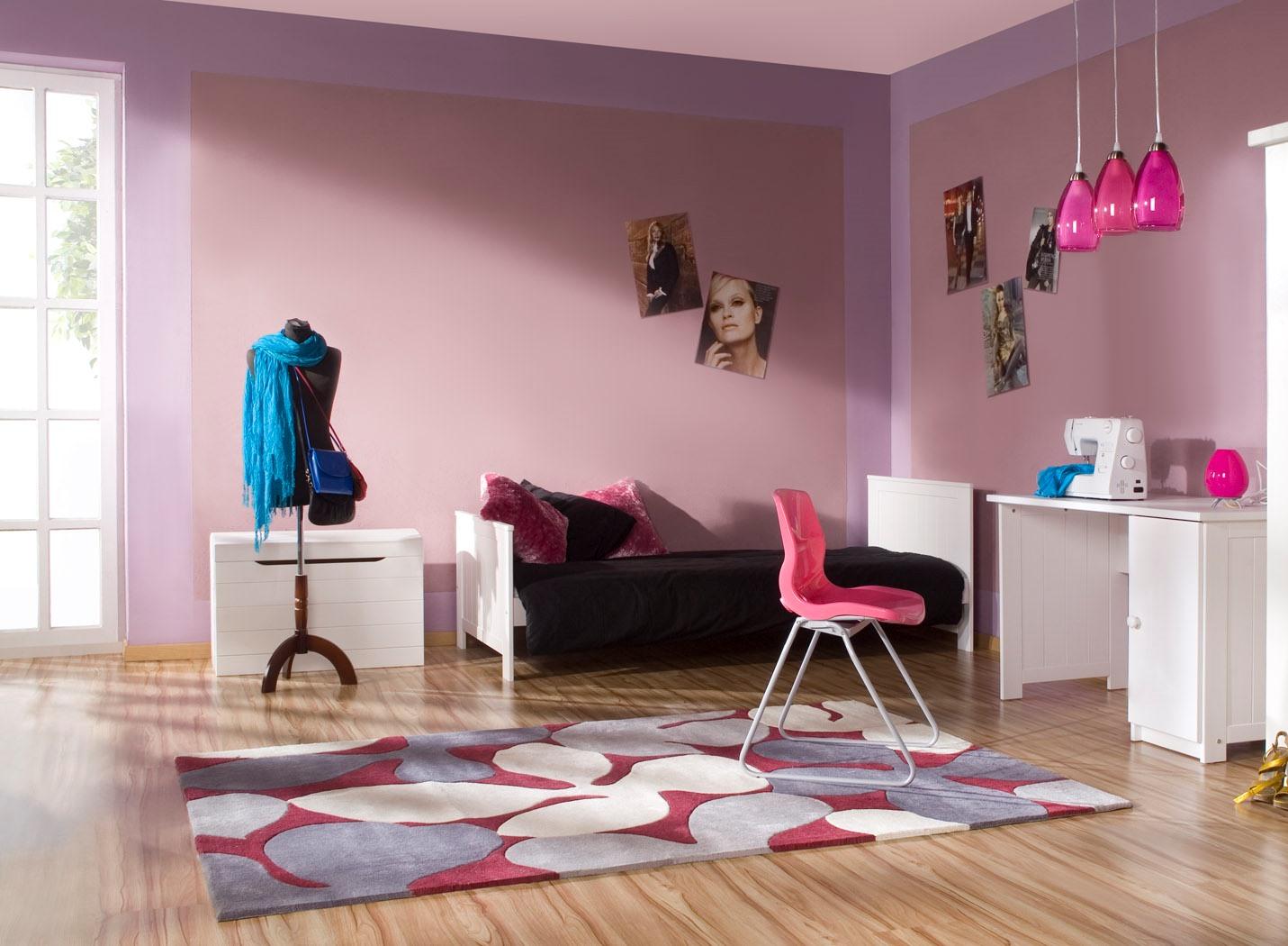 Pinio mini rose fille   3 meubles   lit 160x70, commode , armoire ...