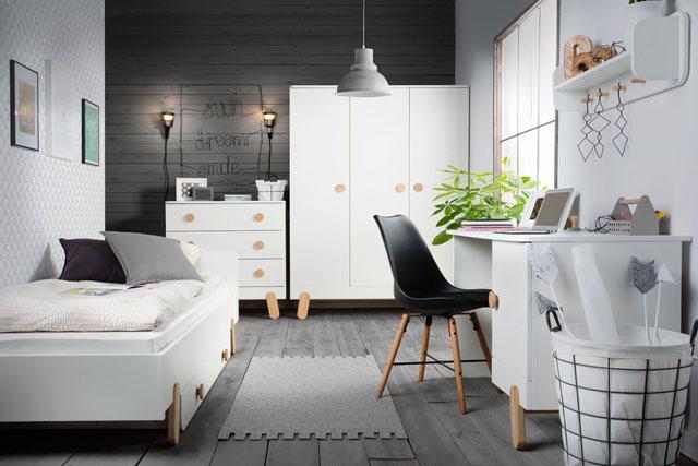 Chambres pour filles et gar ons pas cher baby - Chambre dune adolescente moderne avec armoire et bureau ...