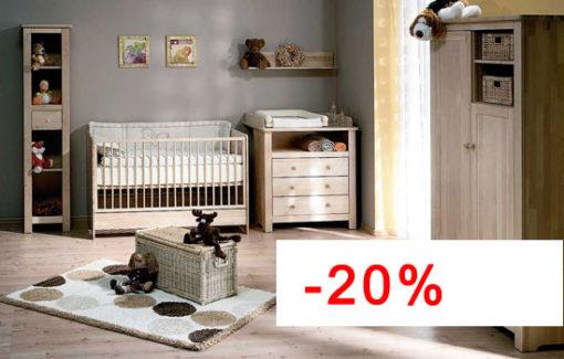 Chambre bébé complète évolutive ATB Nature - Lit 140x70