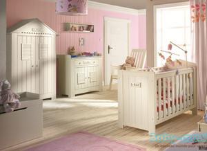 Chambre Bébé Evolutive Complète en BOIS MASSIF. Baby-Mania.com