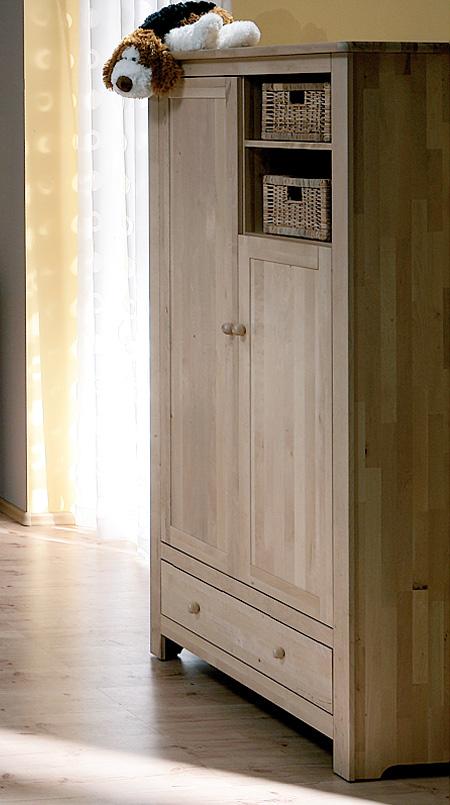 Atb nature 6 meubles lit 140x70 commode armoire 2 for Armoire murale bureau