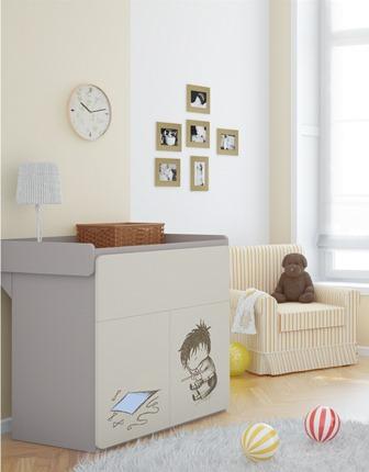 baby vox 2pir gar on 4 meubles lit 140x70 commode. Black Bedroom Furniture Sets. Home Design Ideas