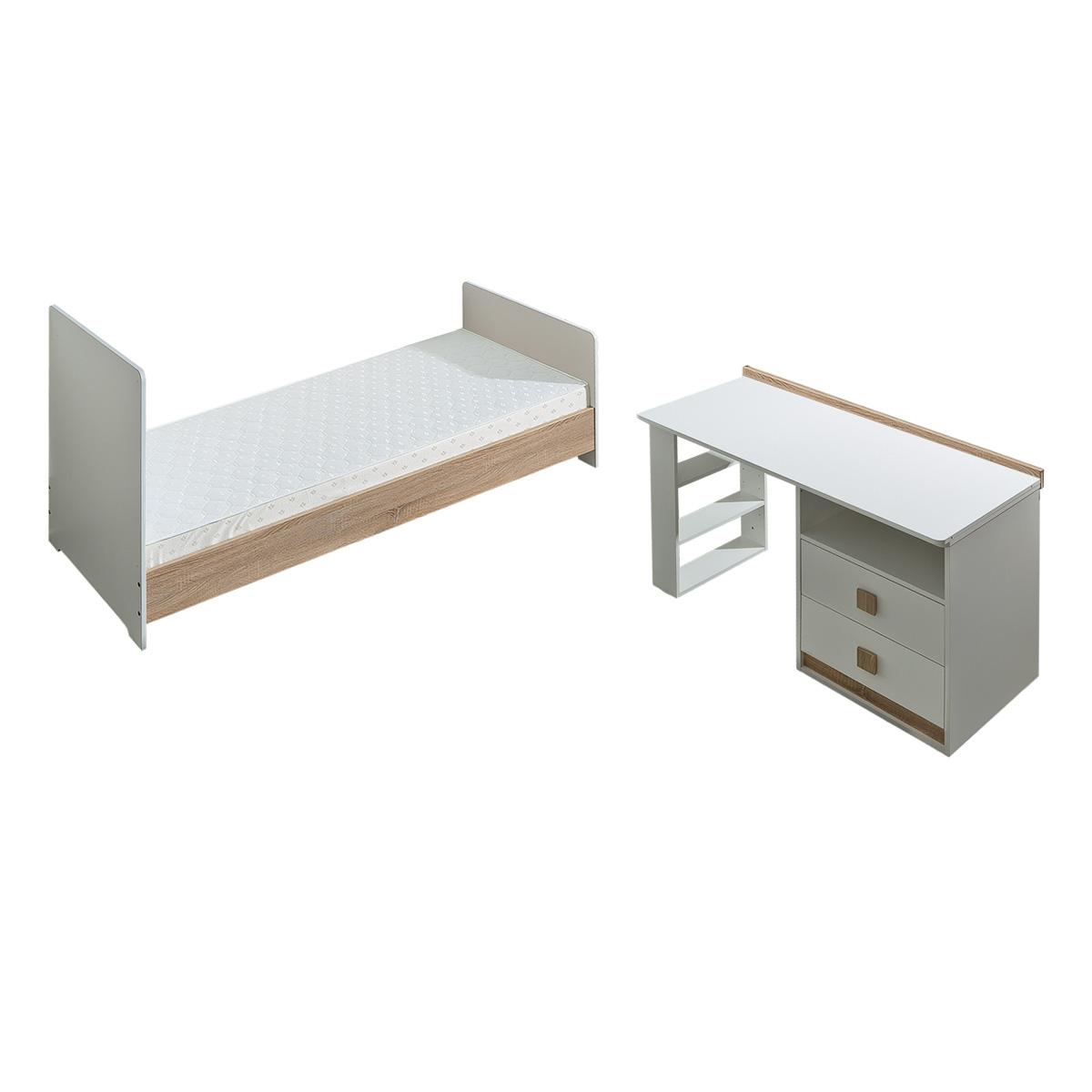 Atb multiple 7 meubles lit 200x80 lit 140x70 armoire 2 portes petite - Etagere murale chambre ado ...