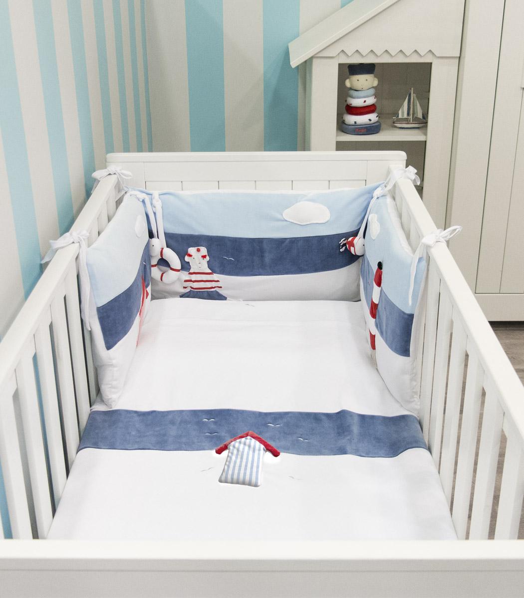 muzpony petit marin 5 l ments ciel de lit tour de. Black Bedroom Furniture Sets. Home Design Ideas