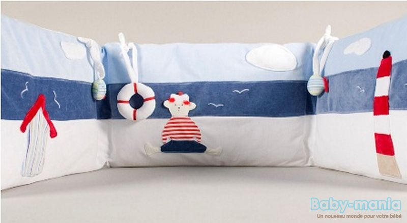 muzpony petit marin 5 l ments ciel de lit tour de lit 120 140 housse de couette d. Black Bedroom Furniture Sets. Home Design Ideas