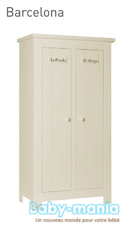 Pinio barcelona 4 meubles lit 160x70 armoire 2 ou 4 for Bureau 160x70