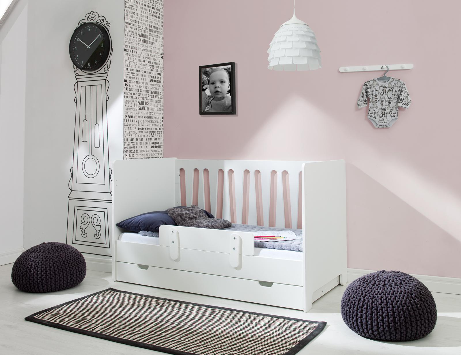 PINIO Moon 4 meubles lit 140x70 mode 2 tiroirs armoire 3