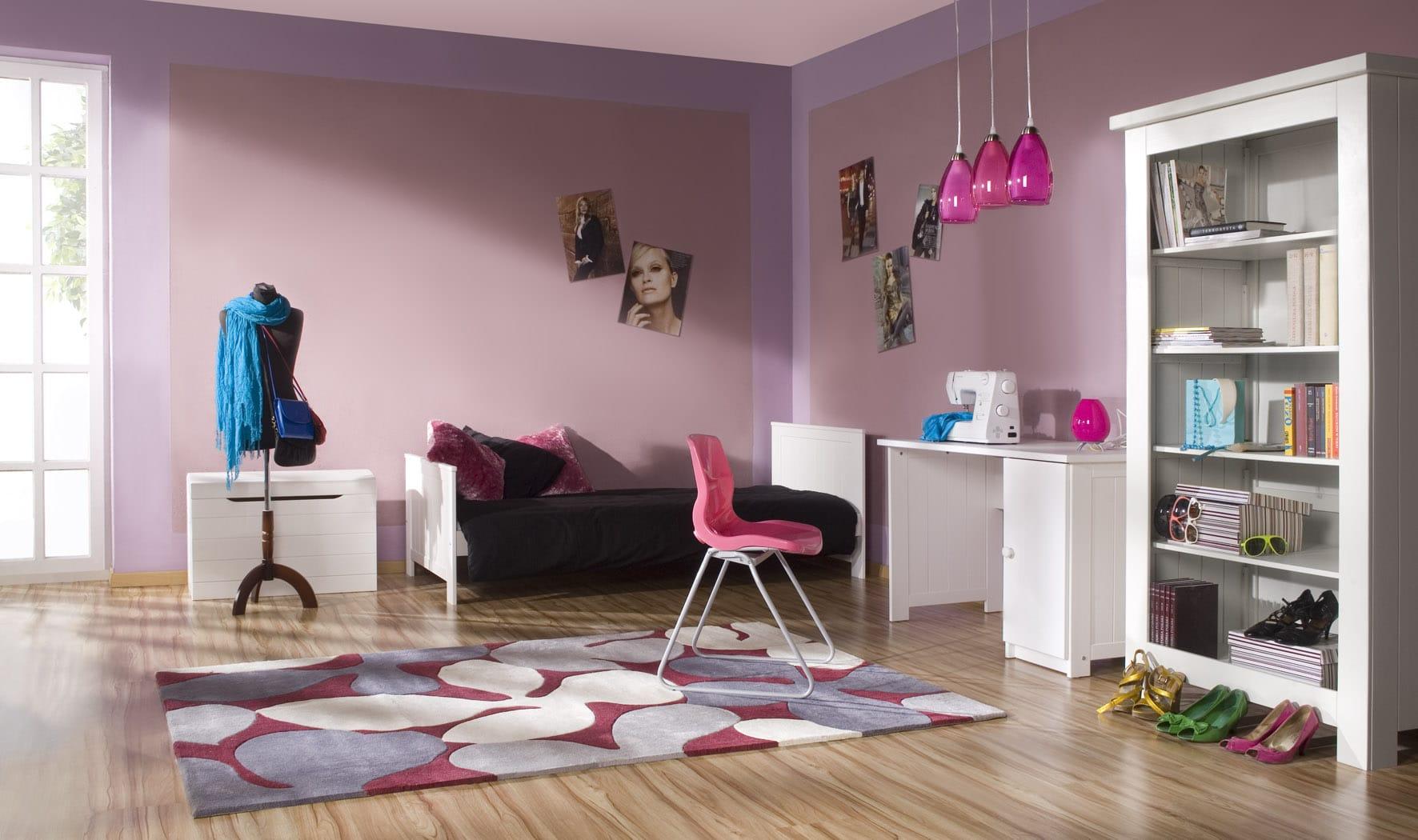PINIO Barcelona - 5 meubles - lit 160x70, commode, armoire 2 ou 4 portes,  grande bibliothèque, bureau