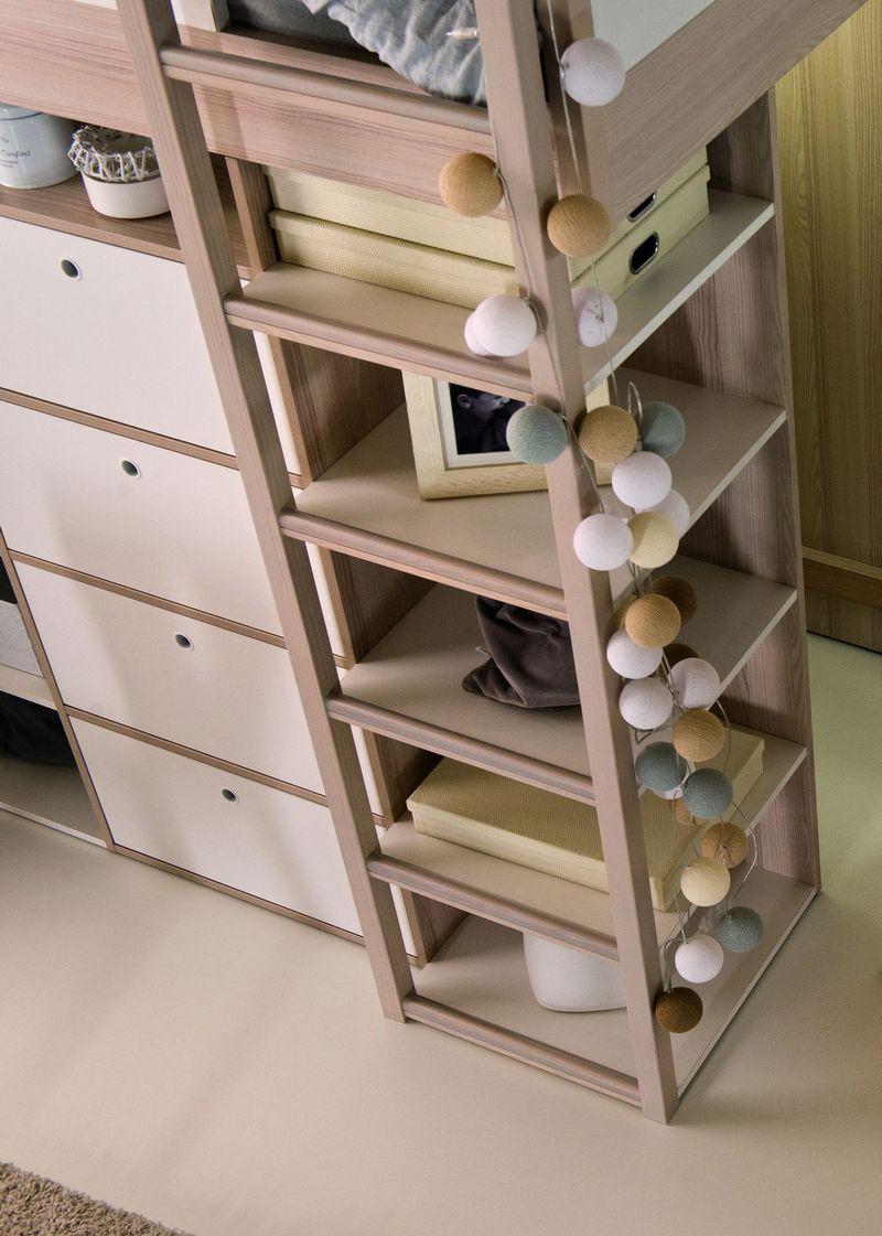 baby vox spot young lit mezzanine combin 5 l ments lit 200x90 commode biblioth ques. Black Bedroom Furniture Sets. Home Design Ideas