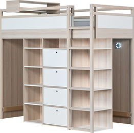 baby vox spot young lit mezzanine combin 8 l ments lit 200x90 commode biblioth ques. Black Bedroom Furniture Sets. Home Design Ideas