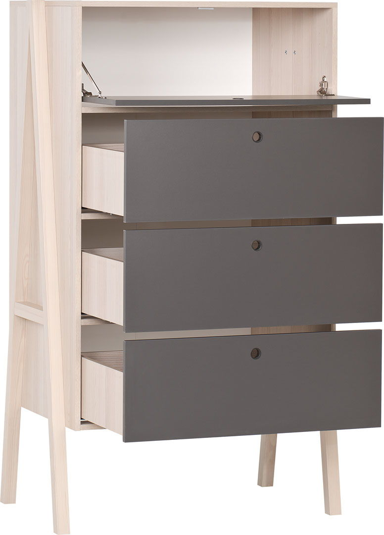 Vox spot young 5 meubles lit 200x90 avec tiroir lit gigogne armoire 3 portes commode 4 - Bibliotheque chambre ado ...