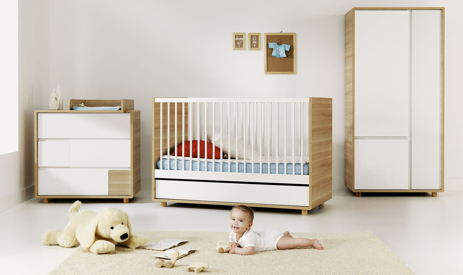 baby vox evolve 3 meubles lit 140x70 avec tiroir. Black Bedroom Furniture Sets. Home Design Ideas