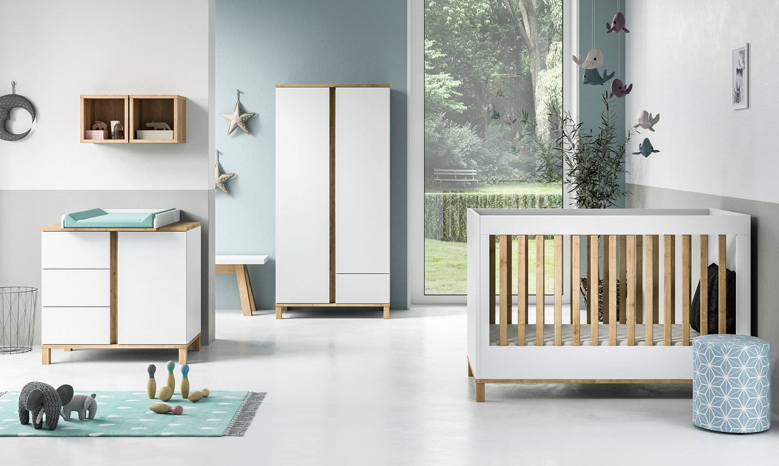 baby vox altitude blanc 3 meubles lit 140x70 commode. Black Bedroom Furniture Sets. Home Design Ideas