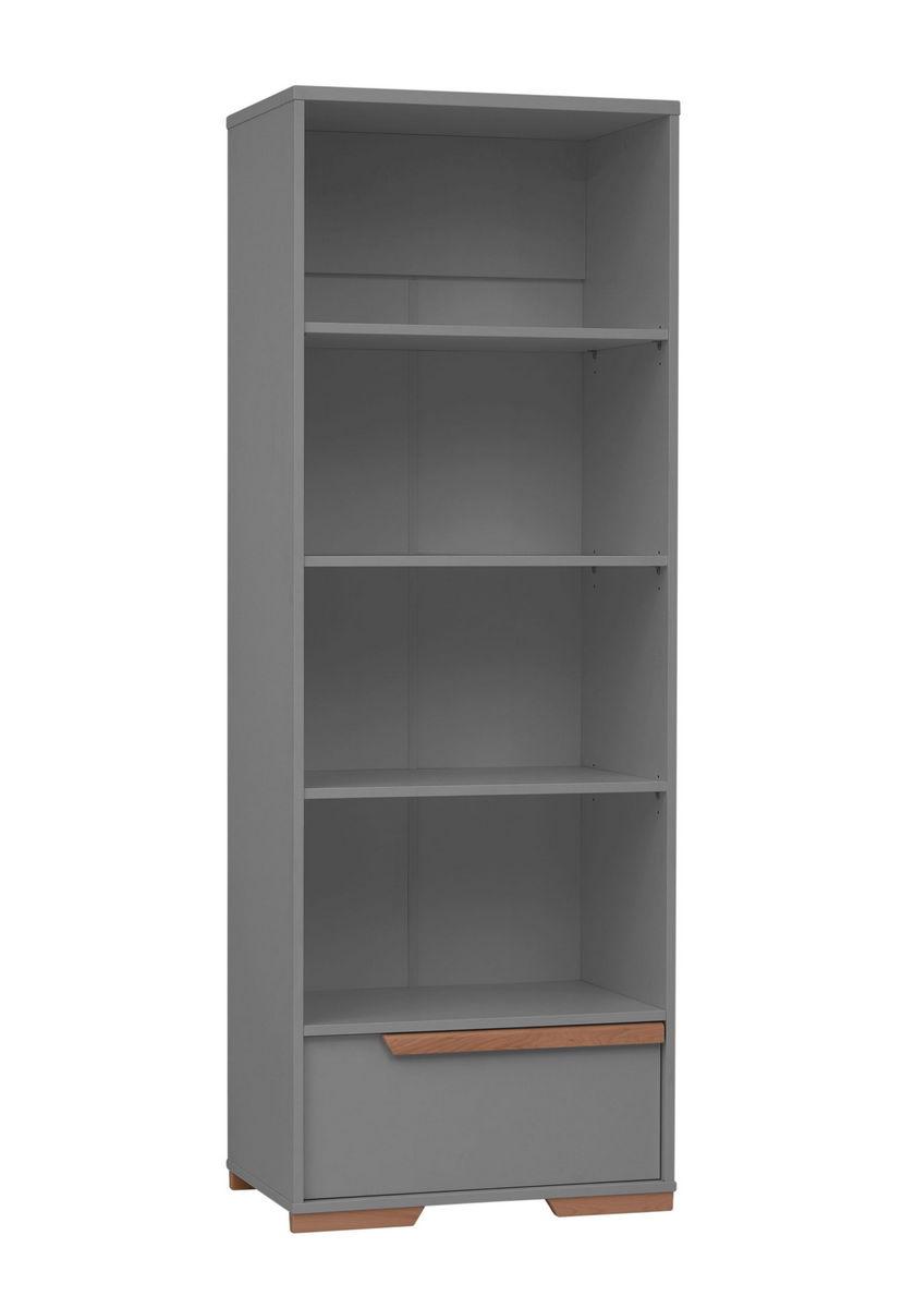 pinio snap gris 5 meubles lit 120x60 commode armoire 3 portes grande biblioth que. Black Bedroom Furniture Sets. Home Design Ideas